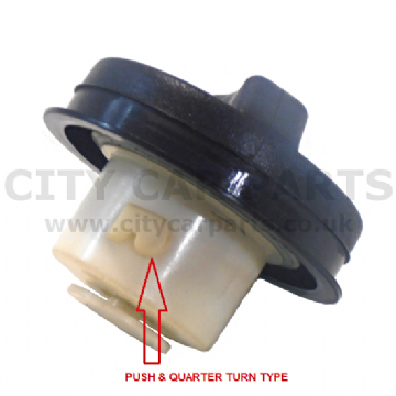 SAAB 93 9-3 MODELS FROM 2006 TO 2012 PETROL FUEL CAP PUSH & QUARTER TURN TYPE